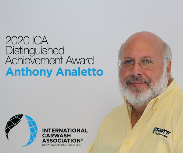International Carwash Association Awards Distinguished Achievement to Anthony Analetto
